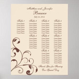 Wedding Reception Seating Chart - Standard Sizes