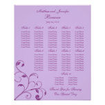 Wedding Reception Seating Chart - Standard Sizes Print