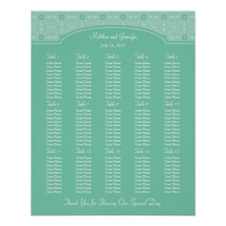 Wedding Reception Seating Chart - Standard Sizes Poster