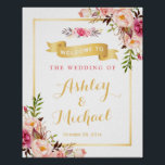 "Wedding Reception Sign Elegant Chic Floral Gold<br><div class=""desc"">================= ABOUT THIS DESIGN ================= Wedding Reception Sign Elegant Chic Floral Gold Frame Poster Template - A Perfect Design for you. (1) The default size is 8 x 10 inches, you can change it to any size. (2) All text style, colors, sizes can be modified to fit your needs. (3)...</div>"