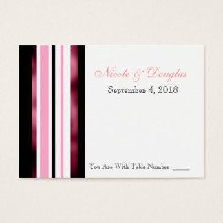 Wedding Reception Table Number Place Card Reminder