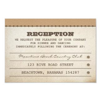 wedding reception tickets card