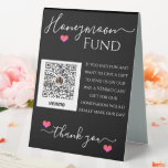 """Wedding Reception Venmo Honeymoon Fund Sign<br><div class=""""desc"""">A polite and fun way of asking for money during your wedding shower. Add your own Venmo QR code image to your honeymoon fund sign. Use your own honeymoon fund wording to match your own style. Order several honeymoon fund signs to display at your wedding reception, at your gift table,...</div>"""