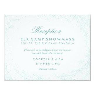 Wedding Reception // Winter Wonderland Card