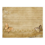 Wedding Recipe Card Vintage Butterfly Postcard