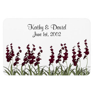 Wedding Red Flowers Magnet