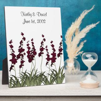 Wedding Red Flowers Plaque