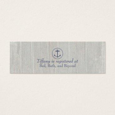 Beach Themed Wedding Registry Card | Nautical Anchor