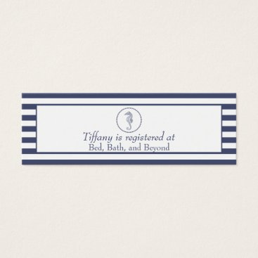 Beach Themed Wedding Registry Card | Nautical Seahorse