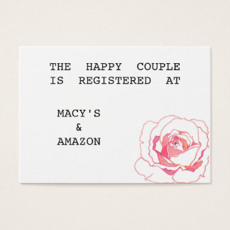 Wedding Registry Information Cards