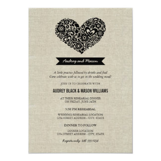 Wedding Rehearsal and Dinner Invitations