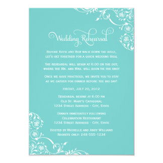 Wedding Rehearsal and Dinner Invitations | Aqua