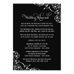 Wedding Rehearsal and Dinner Invitations | Black Announcement