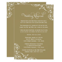 Wedding Rehearsal and Dinner Invitations | Gold