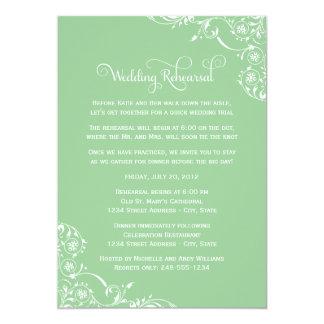 Wedding Rehearsal and Dinner Invitations | Green