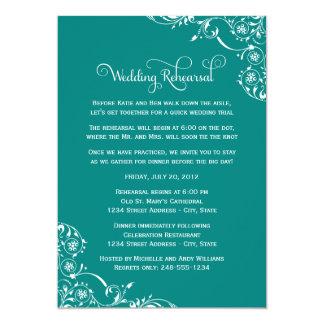 Wedding Rehearsal and Dinner Invitations   Green