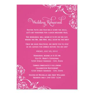 "Wedding Rehearsal and Dinner Invitations | Pink 5"" X 7"" Invitation Card"