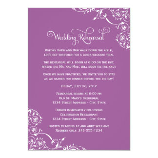 Wedding Rehearsal and Dinner Invitations   Violet