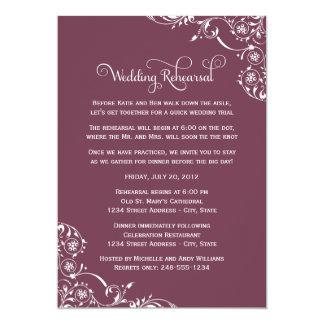 Wedding Rehearsal and Dinner Invitations   Wine