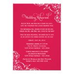 Wedding Rehearsal | Cherry Red Scroll Card