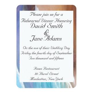 wedding rehearsal dinner 4.5x6.25 paper invitation card