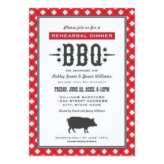 Wedding Rehearsal Dinner | Backyard BBQ Theme Announcements