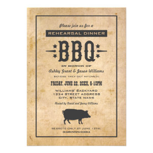 Wedding Rehearsal Dinner | Backyard BBQ Theme Invite