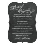 Wedding Rehearsal Dinner | Black Chalkboard Style 5x7 Paper Invitation Card