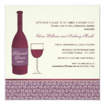 Wedding Rehearsal Dinner | Burgundy Wine Theme Card