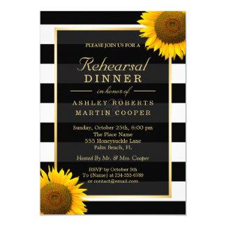 Wedding Rehearsal Dinner Elegant Sunflowers Decor Card