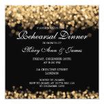 Wedding Rehearsal Dinner Gold Lights Card