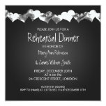 Wedding Rehearsal Dinner Grunge Hearts Black 5.25x5.25 Square Paper Invitation Card
