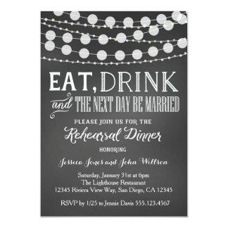 Wedding Rehearsal Dinner Invitation
