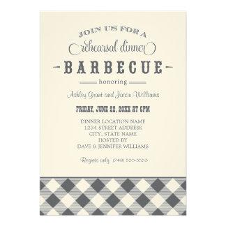 Wedding Rehearsal Dinner Invitation Casual BBQ