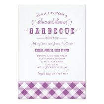 "Wedding Rehearsal Dinner Invitation | Casual BBQ 5"" X 7"" Invitation Card"