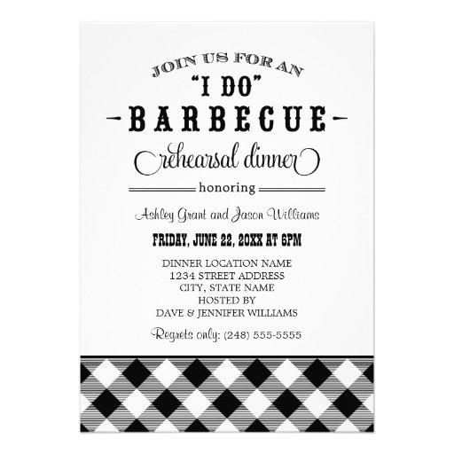 Wedding Rehearsal Dinner Invitation | Casual BBQ