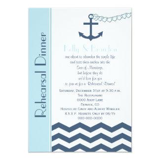 Wedding Rehearsal Dinner Invitation - Nautical