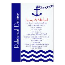 Wedding Rehearsal Dinner Invitation Nautical Navy