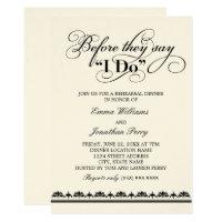 Wedding Rehearsal Dinner Invitation | Wedding Vows