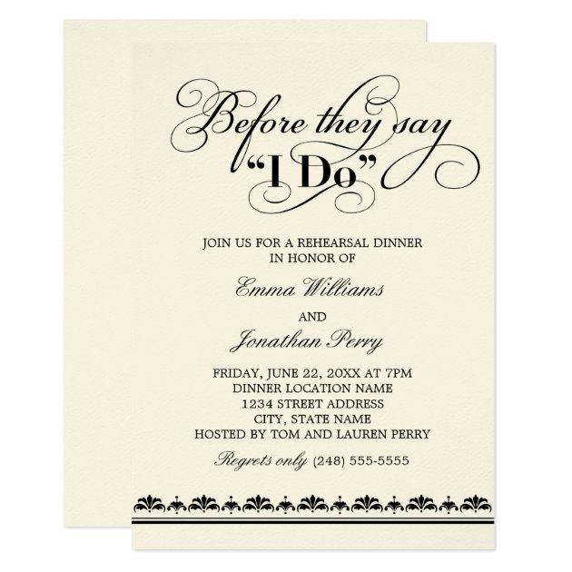Wedding Rehearsal Dinner Invitation | Wedding Vows | Zazzle.com