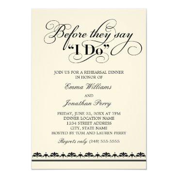 Plush_Paper Wedding Rehearsal Dinner Invitation | Wedding Vows