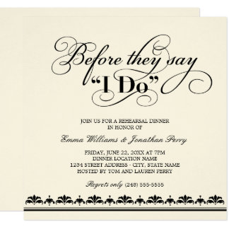 rehearsal dinner invitations & announcements | zazzle, Wedding invitations
