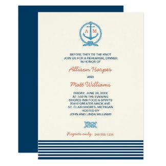 Nautical Themed Rehearsal Dinner Invitations Announcements Zazzle