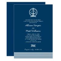 Wedding Rehearsal Dinner   Nautical Theme Card