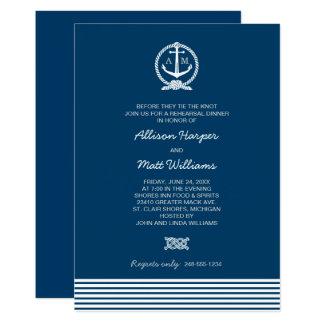 Wedding Rehearsal Dinner | Nautical Theme Card