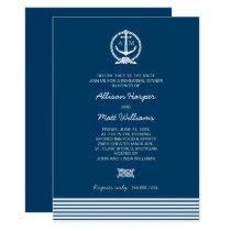 Wedding Rehearsal Dinner   Nautical Theme Invitation