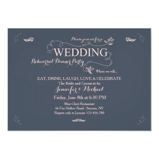 Wedding Rehearsal Dinner Party Invitation