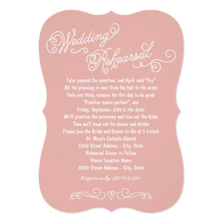 Wedding Rehearsal Dinner   Practice Makes Perfect 5x7 Paper Invitation Card