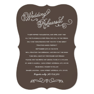 Wedding Rehearsal Dinner | Practice Makes Perfect Card