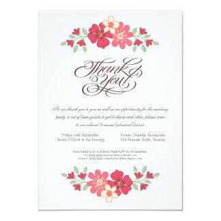 "Wedding Rehearsal Dinner Rustic Floral Flowers 4.5"" X 6.25"" Invitation Card"
